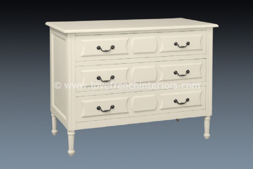 Isabelle Three Drawer Chest in Antique White